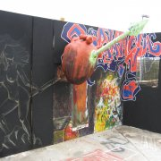 graffiti with 3D additions