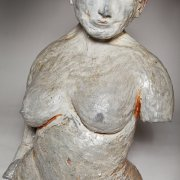 ceramics sculpture of femal nude with open head